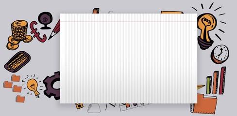 Composite image of composite image of social media diagram