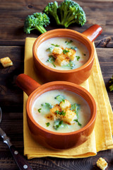 cheese cream soup with broccoli