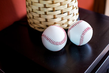 baseball on table