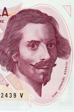 Gian Lorenzo Bernini portrait from Italian money