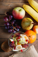 Photography of a fruit salad and fruits