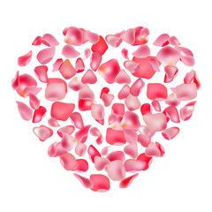 Rose heart. Template for festive design, announcements, advertisement.