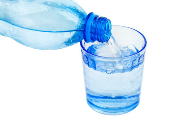 blue bottle and water
