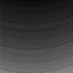 White Dots on Black Background, Gradient Down Up, Halftone Background, Pop Art Style, Vector Illustration