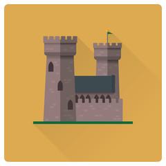 medieval castle flat design vector illustration