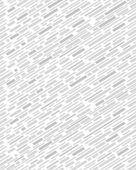 Diagonal interrupted lines pattern, seamless vector background