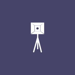 Softbox light ,Studio lighting icon , vector