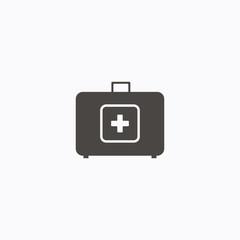 medicine case icon. flat design