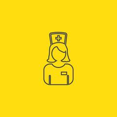 line icon nurse icon