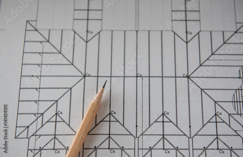 Pencil on blueprints architectural and engineering for Architectural engineering concepts