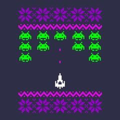 8 bit pixel art space design
