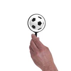 Fußball mit Lupe - Symbolbild