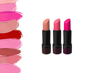 Vector lipstick set on white background. Beauty illustration