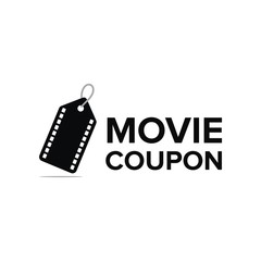 Movie coupon logo vector
