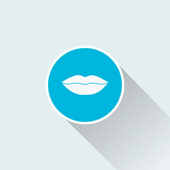 flat lip icon