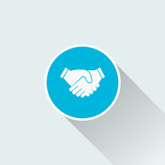 flat handshake icon