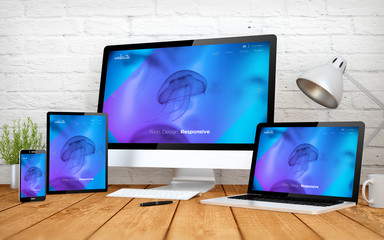 cool website responsive design screen multidevices
