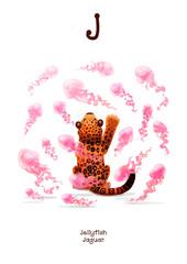 English Alphabet series of Amusing Animals letter J