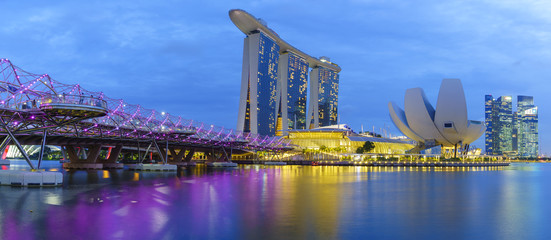 Singapore  View Of Marina Bay sands.