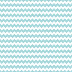 Retro Seamless Pattern Chevron Thick Turquoise Little