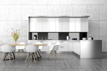 Küche, Esstisch, Möbel Innenraum, Architektur