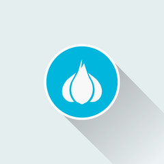 flat garlic icon design