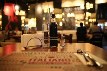 tableware, food, Italian style restaurant background