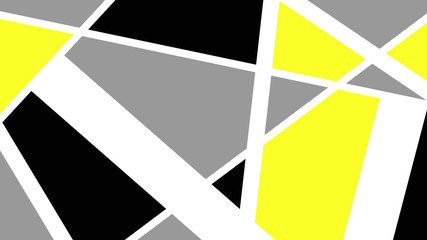 background triangles and shapes in neon yellow
