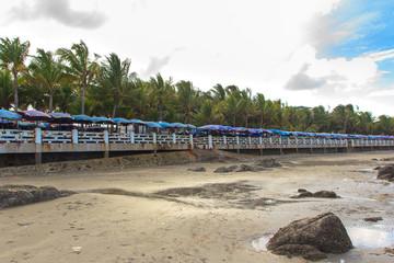 Beach and sky and restaurant  sea food