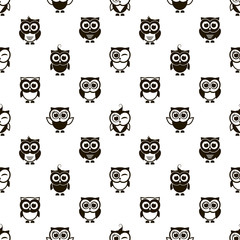 pattern with black owls
