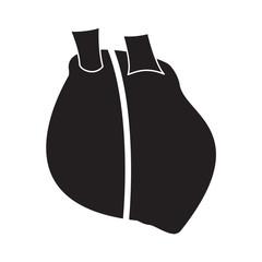 Realistic heart symbol black