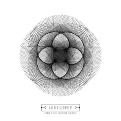 Sacred geometry isolated symbol, vector illustration