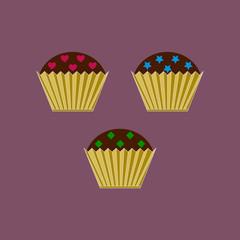 Baking logo. Cake logo template design vector