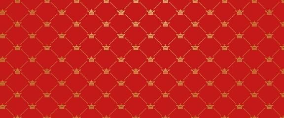 Red background. Royal wallpaper. Vector llustration