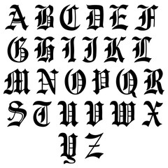 Medieval Alphabet Lettres Gothique Gothic