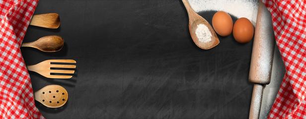 Empty Blackboard - Baking Background