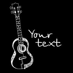 music, guitar, illustration, vector, design, musical, instrument
