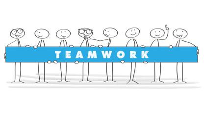 Strichmännchen / Vektor / Teamwork