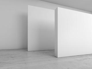 3d interior blank banners installation