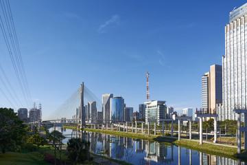 Sao Paulo Brazil South America Octavio Frias de Oliveira Bridge