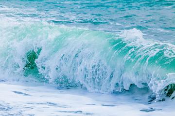 Ocean Wave. Breaking waves. storm on the sea