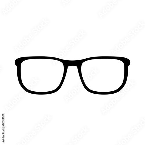 schwarzes einfaches symbol brille sonnenbrille. Black Bedroom Furniture Sets. Home Design Ideas