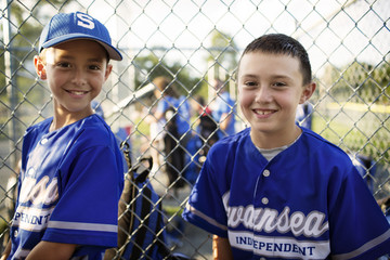Young baseball players