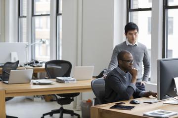 Business men working in office
