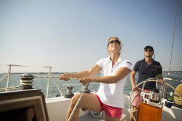 People sailing