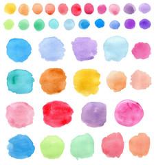 Bright Watercolor blots