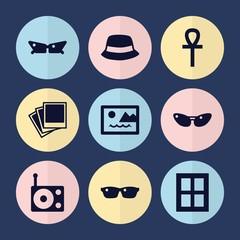 Set of 9 elegance filled icons