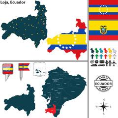 Map of Loja, Ecuador