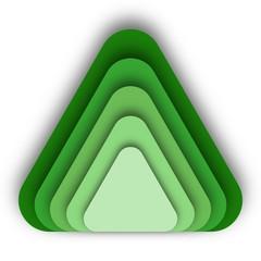 Three Dimensional Green Modern Triangular Logo Concept Design