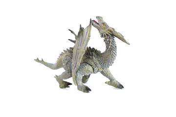 dragon toy on isolated